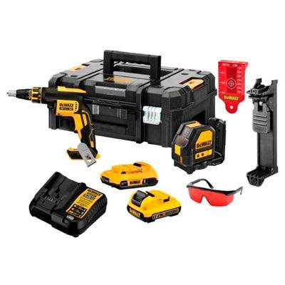 Kit-Parafusadeira-Drywall-Dewalt---Nivel-Laser-DCK246D2T_principal01