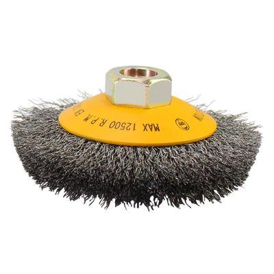 Escova-Conica-Ondulada-Pequi-4pol-x-3-4pol-M14-Aco-Carbono-030-mm---Blister