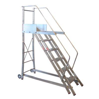 Escada-Alulev-Tr252-Modelo-Trepadeira-255-Mts-10-Degraus---Plataforma